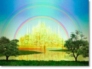 rainbow in heaven